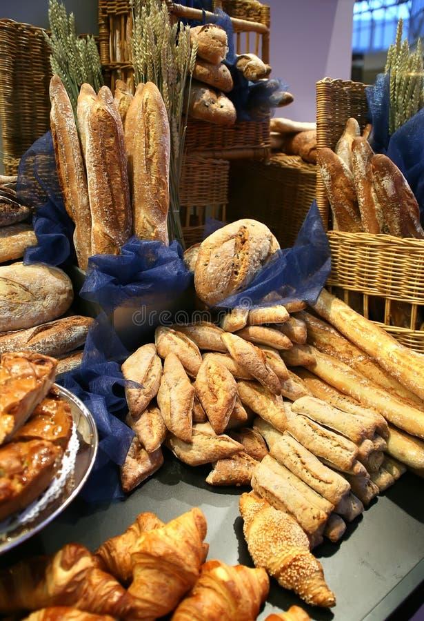 Het assortiment van het brood stock fotografie