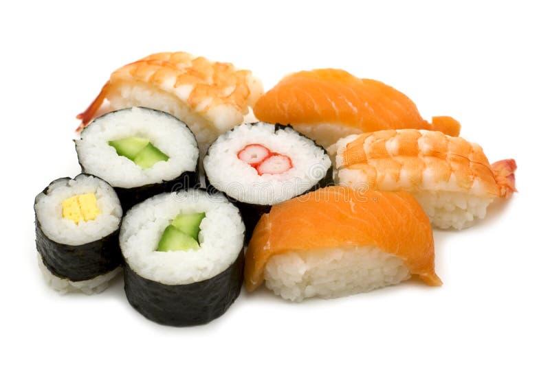 Het assortiment van sushi stock afbeeldingen