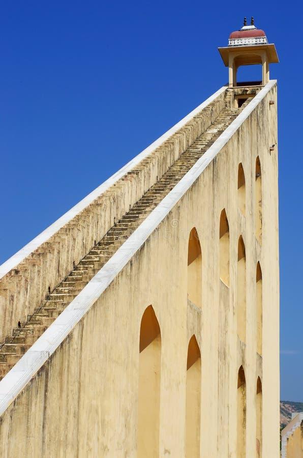 Het astronomische waarnemingscentrum van Jantar Mantar in Japiur, India royalty-vrije stock foto's