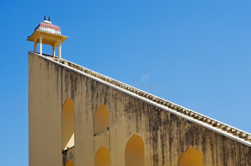 Het astronomische waarnemingscentrum van Jantar Mantar in Japiur, India royalty-vrije stock afbeelding