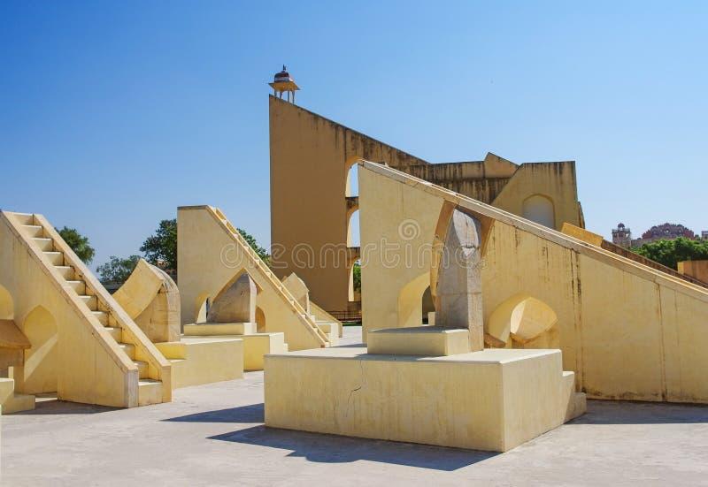 Het astronomische waarnemingscentrum van Jantar Mantar in Japiur, India royalty-vrije stock afbeeldingen