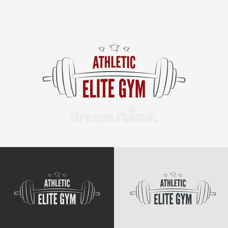 Het atletische concept van het gymnastiekembleem stock illustratie