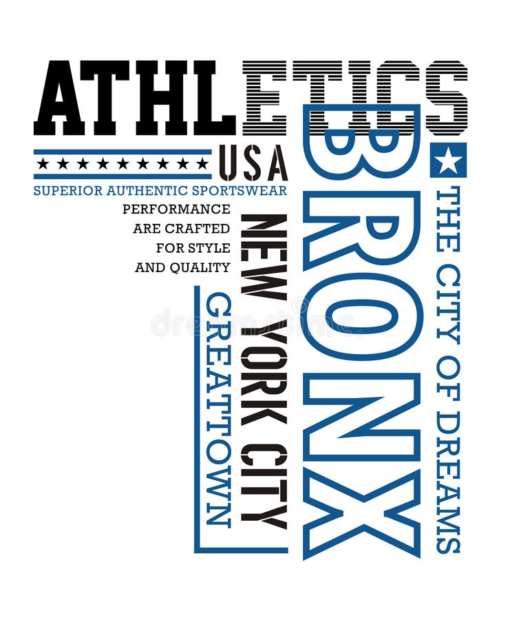Het atletische ontwerp van de t-shirt grafische typografie vector illustratie