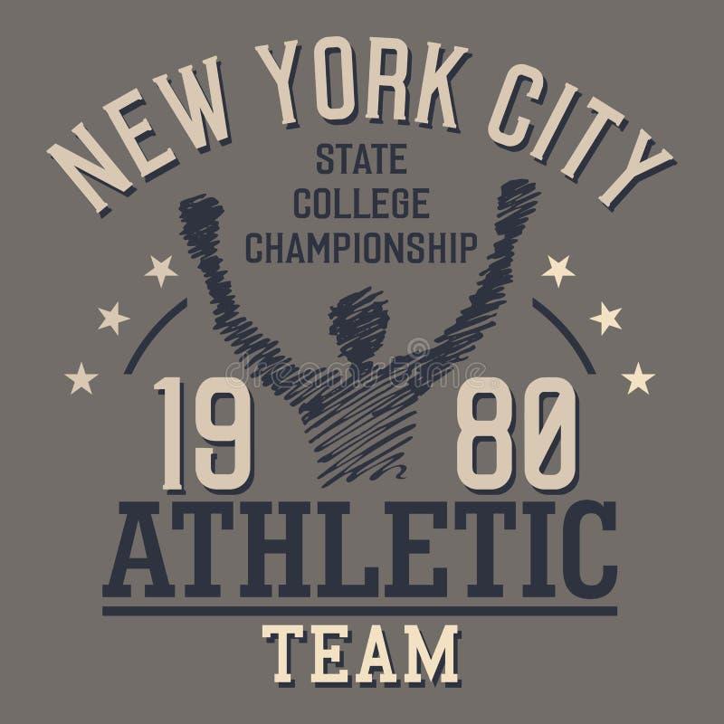 Het Atletische Team van New York stock illustratie