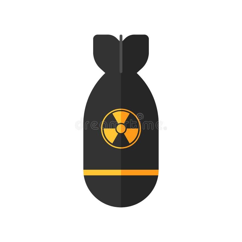 Het atoompictogram van de raketbom royalty-vrije illustratie