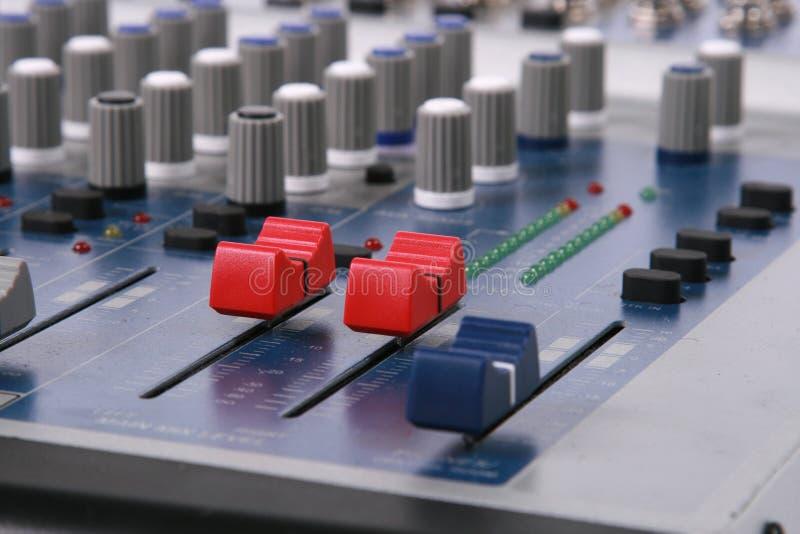 Het audio mengen zich royalty-vrije stock afbeeldingen