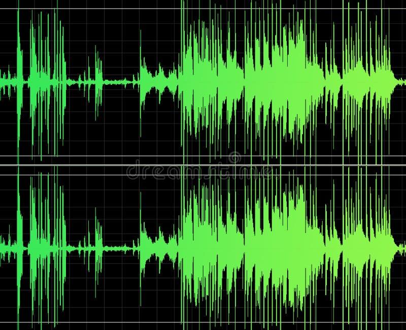 Het audio Uitgeven vector illustratie