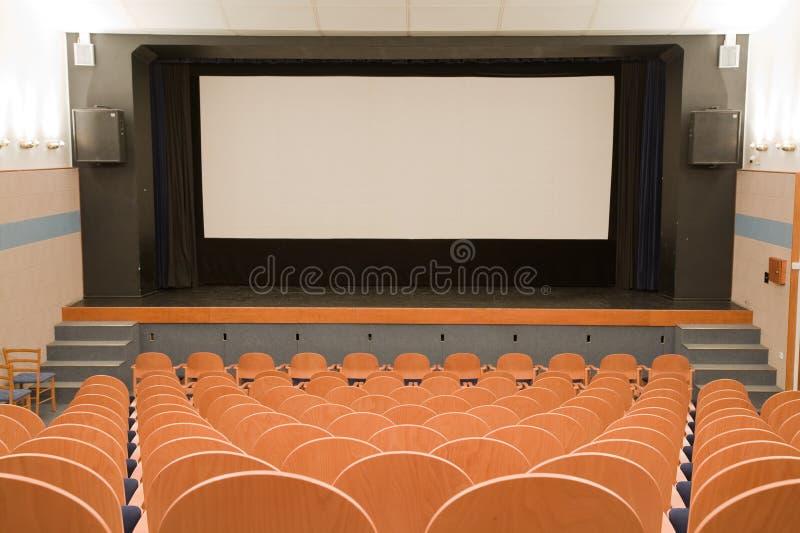 Het auditorium van de bioskoop royalty-vrije stock afbeelding