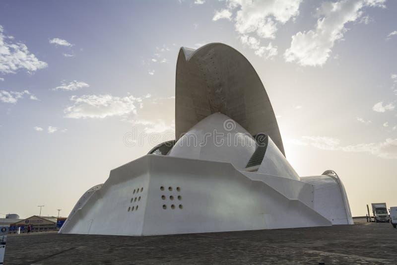 Het auditorium van Tenerife, Canarische Eilanden stock foto's