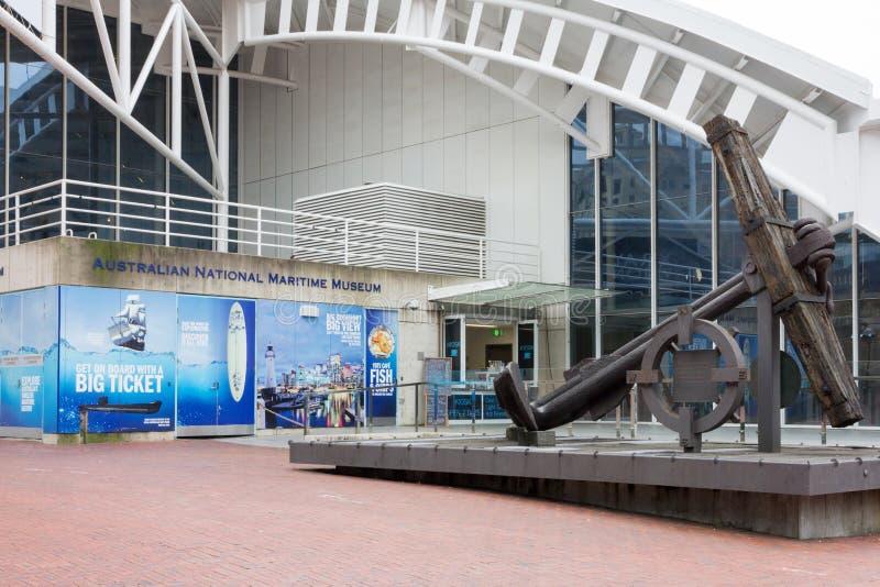 Het Australische Nationale Maritieme Museum, Darling Harbour, Sydney stock afbeelding