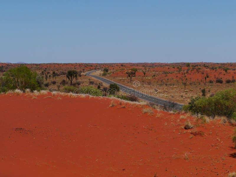 Het Australische rode binnenland royalty-vrije stock afbeeldingen