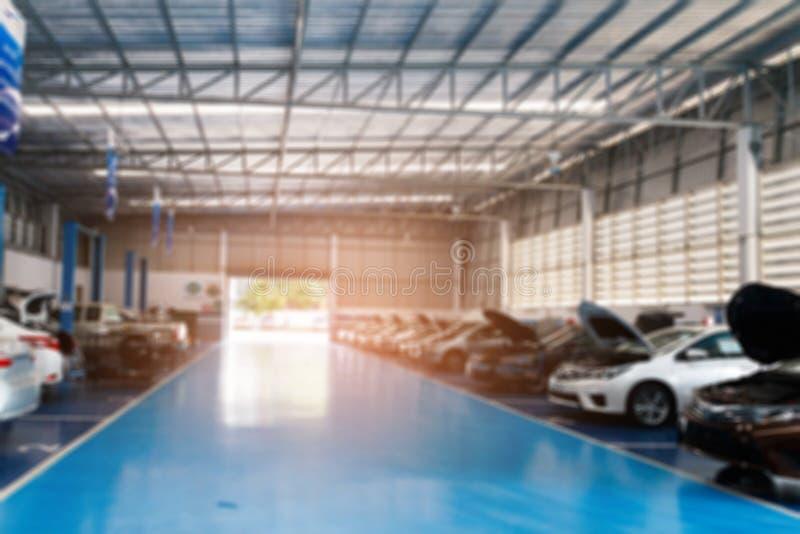 Het autocentrum van de reparatiedienst stock afbeeldingen