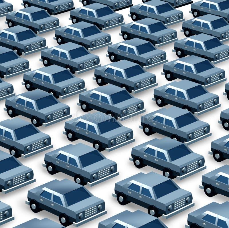 Het autohandel drijven stock illustratie