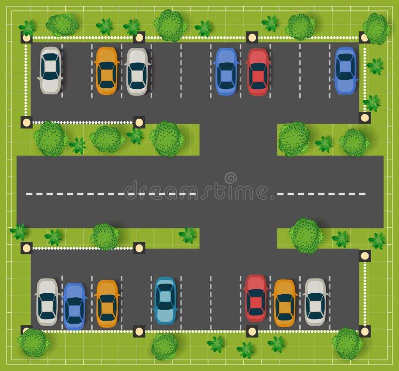 Het autoparkeren royalty-vrije illustratie