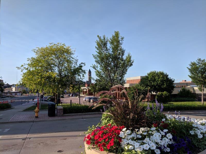 Het Ave van Dakota in Sioux Falls Van de binnenstad royalty-vrije stock afbeelding