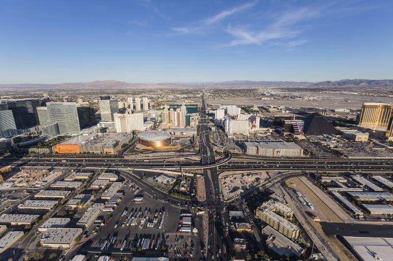 Het Ave van Las Vegas Tropicana en Antenne 15 Tusen staten royalty-vrije stock afbeelding