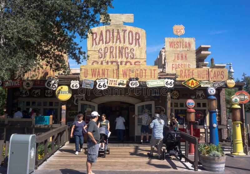 Het Avontuur Disneyland van Californi? van de radiatorlentes stock fotografie