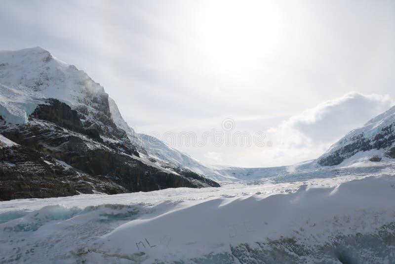 Het Avontuur van de Athabascagletsjer stock foto's
