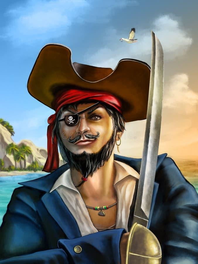 Het avontuur van de piraat stock illustratie
