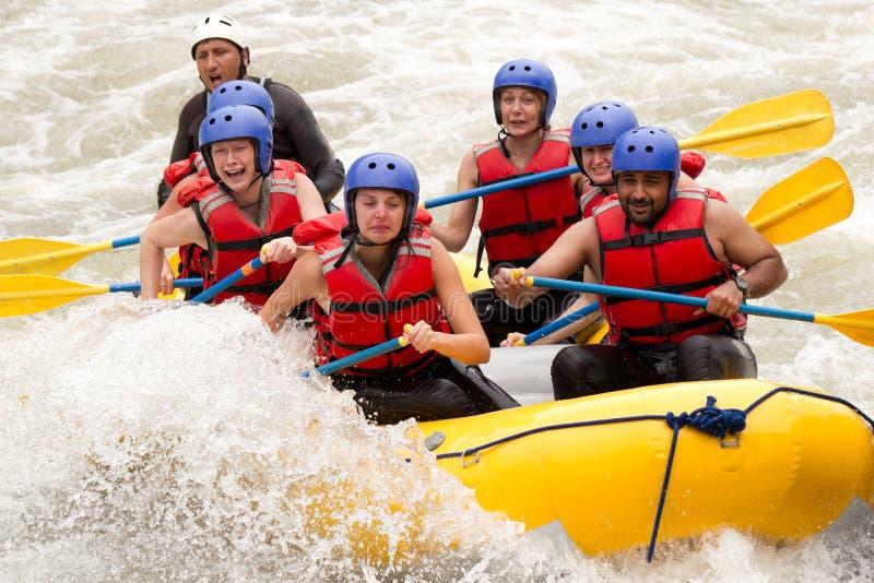 Het Avontuur van Rafting van de Whitewaterrivier royalty-vrije stock fotografie