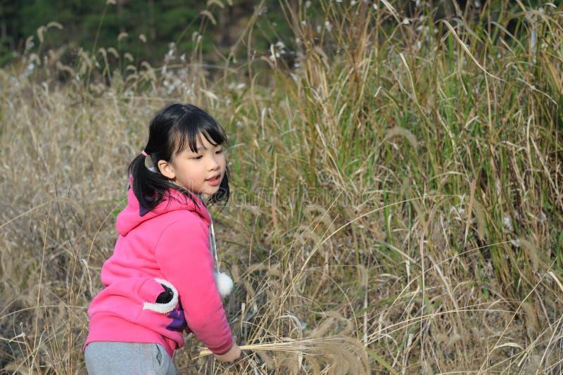 Het Aziatische meisje spelen royalty-vrije stock afbeelding
