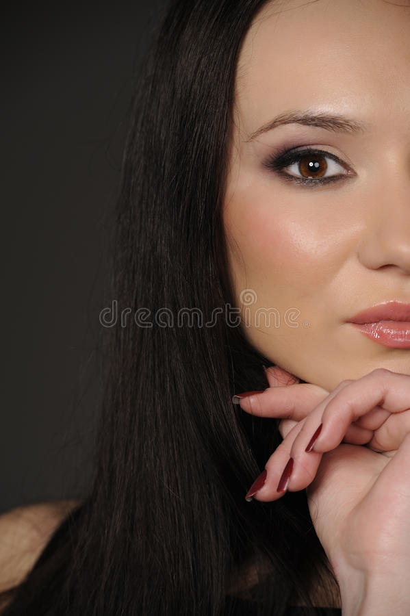 Het Aziatische meisje van het portret royalty-vrije stock foto's