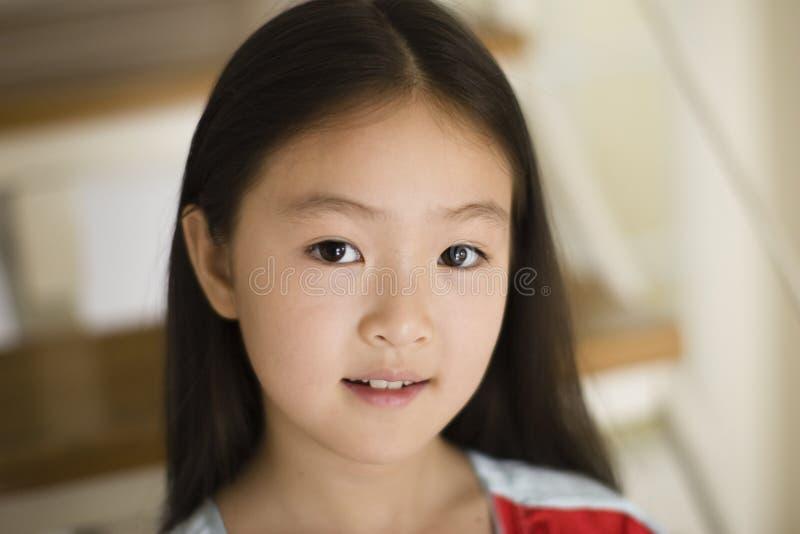 Het Aziatische meisje van het portret royalty-vrije stock afbeeldingen