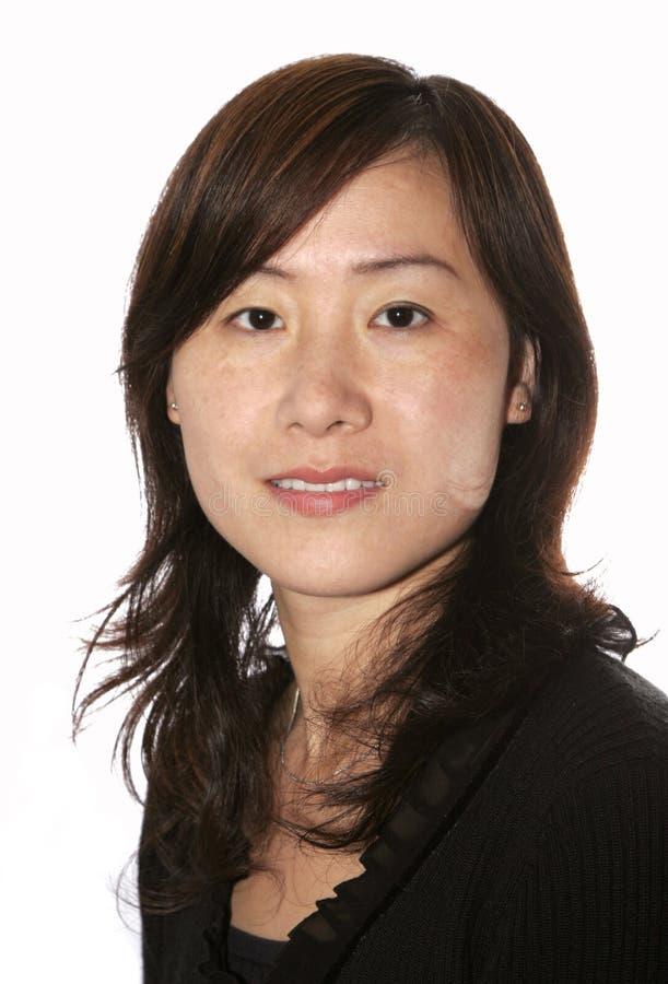 Het Aziatische Portret van de Vrouw stock foto's