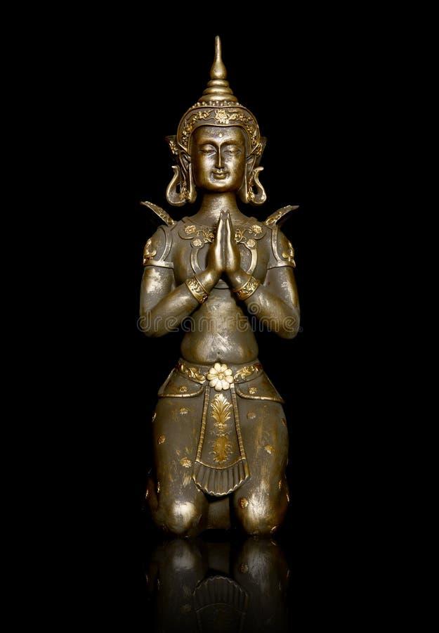 Het Aziatische Standbeeld van de Godin royalty-vrije stock afbeelding