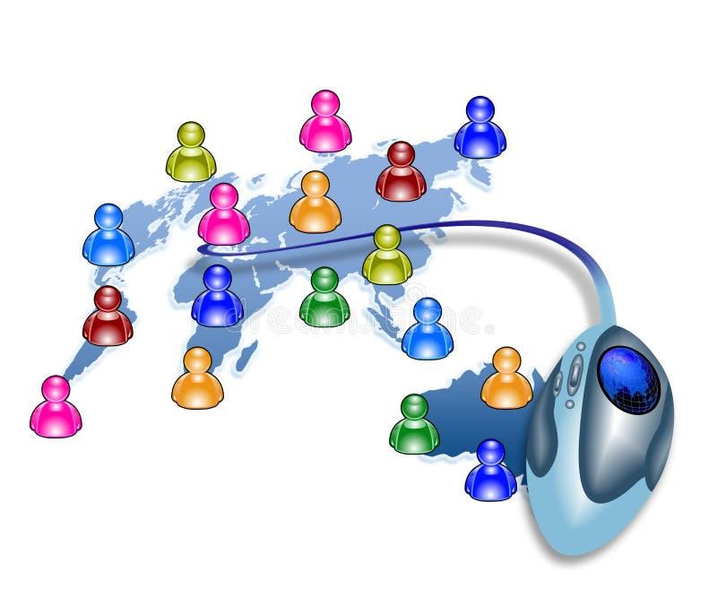 Het babbelen en mededeling royalty-vrije illustratie
