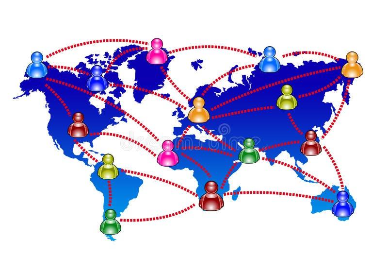 Het babbelen en mededeling stock illustratie