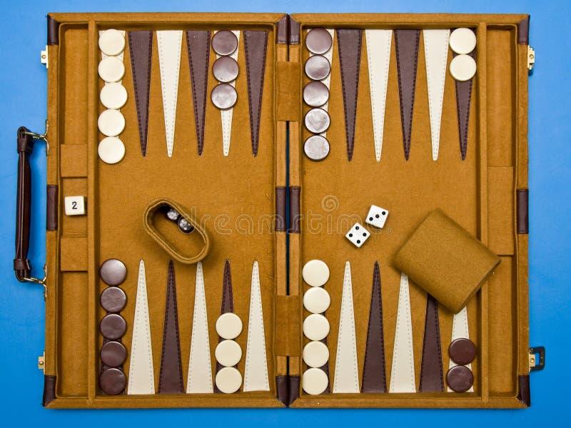 Het backgammon van de reis stock foto