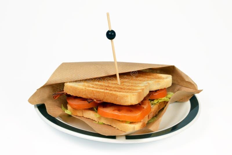 Het bacon BLT van de sandwich. royalty-vrije stock foto