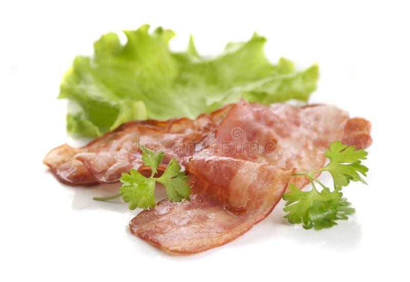 Het bacon van Frie stock afbeeldingen