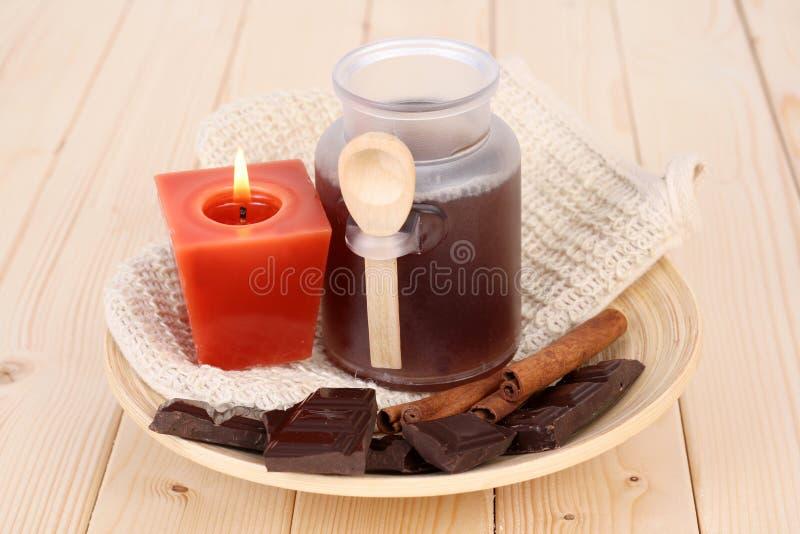 Het bad van de chocolade royalty-vrije stock foto's