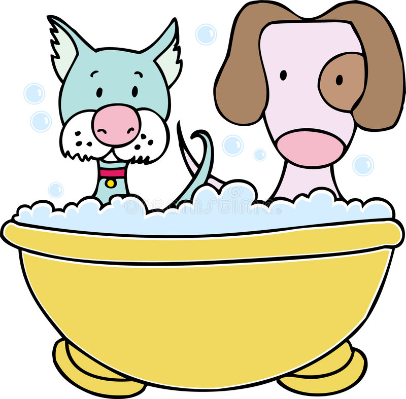 Het Bad van de hond en van de Kat
