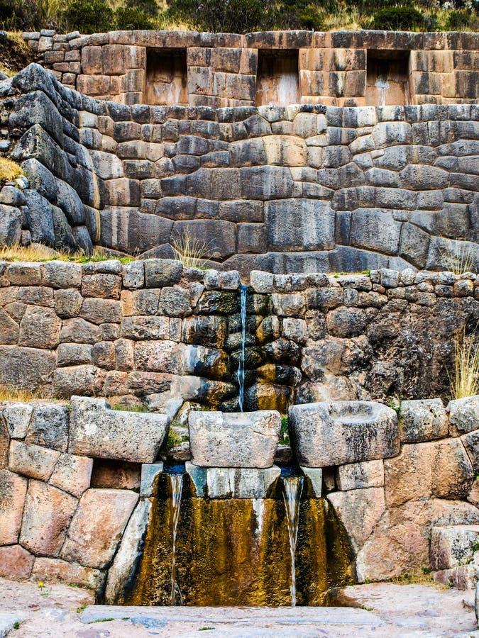 Het bad van Inca - Tambomachay stock afbeelding