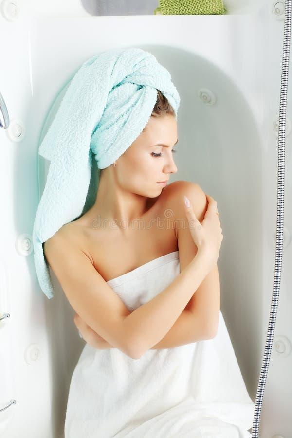 Het baden stock fotografie