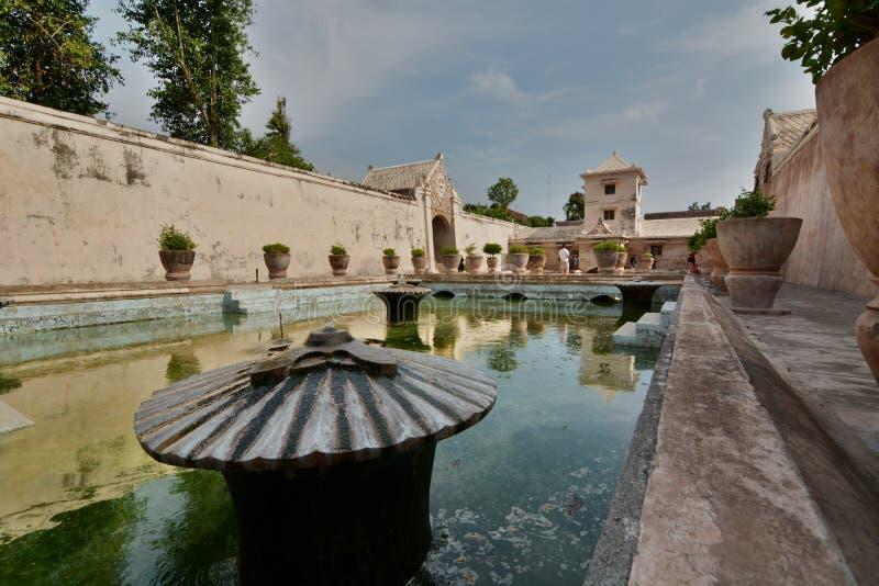 Het het baden gebied Taman Sari Water Castle Yogyakarta Centraal Java indonesië royalty-vrije stock fotografie