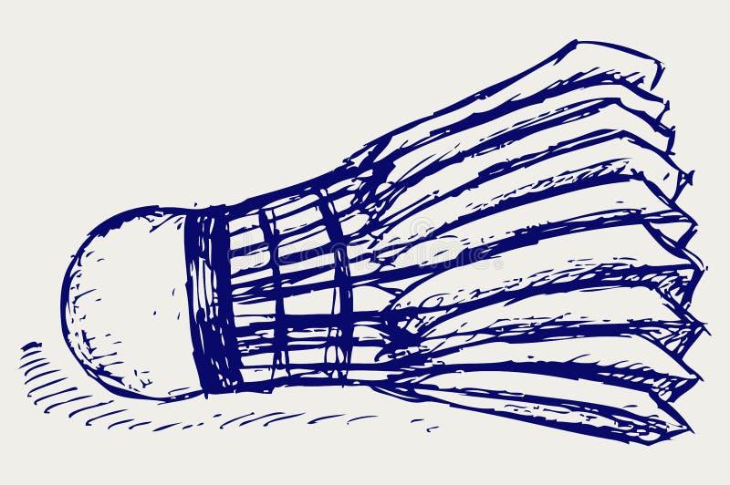 Het badmintonbal van de schets stock illustratie