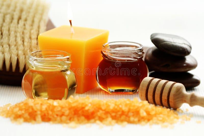 Het badtijd van de honing royalty-vrije stock foto's