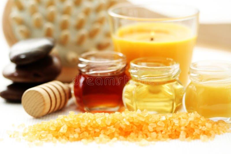 Het badtijd van de honing royalty-vrije stock afbeeldingen