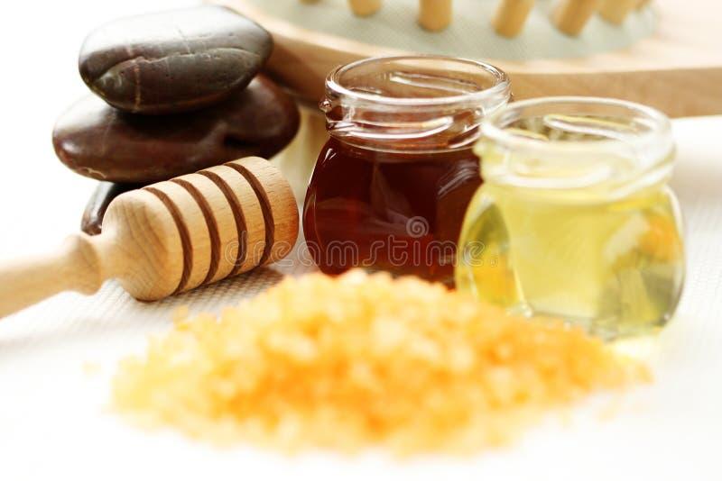 Het badtijd van de honing royalty-vrije stock afbeelding