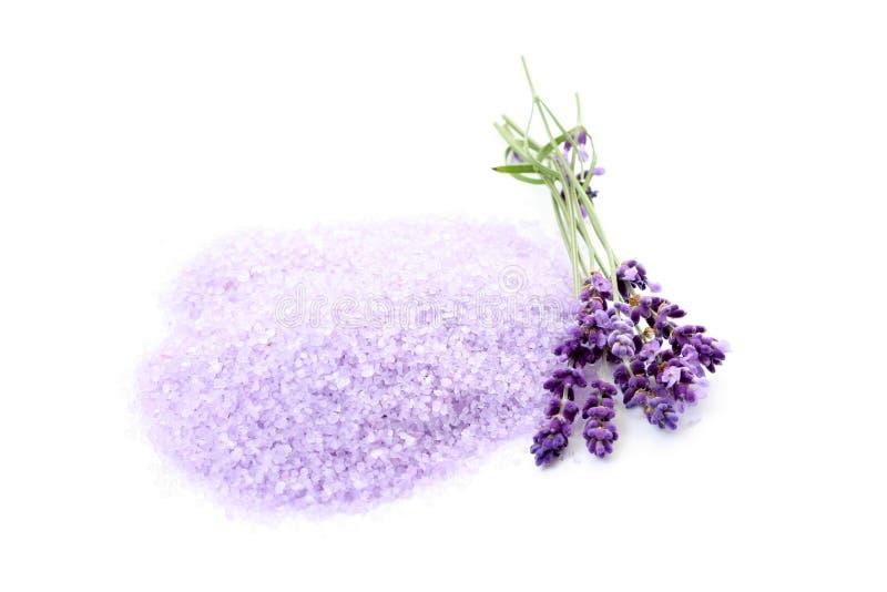 Het badzout van de lavendel stock fotografie