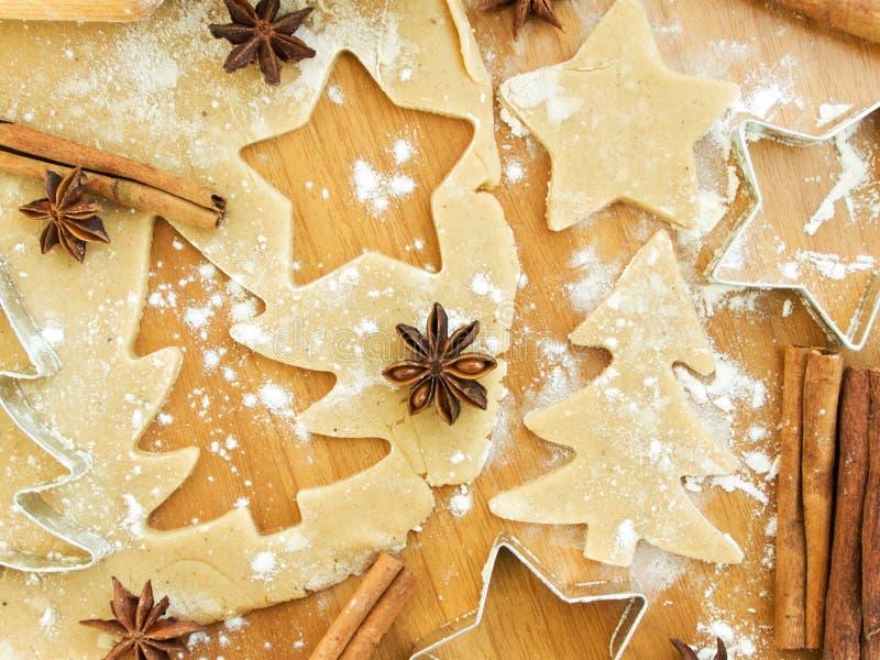 Het baksel van Kerstmis stock foto's