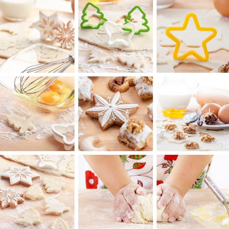 Het bakselcollage van Kerstmis stock afbeelding