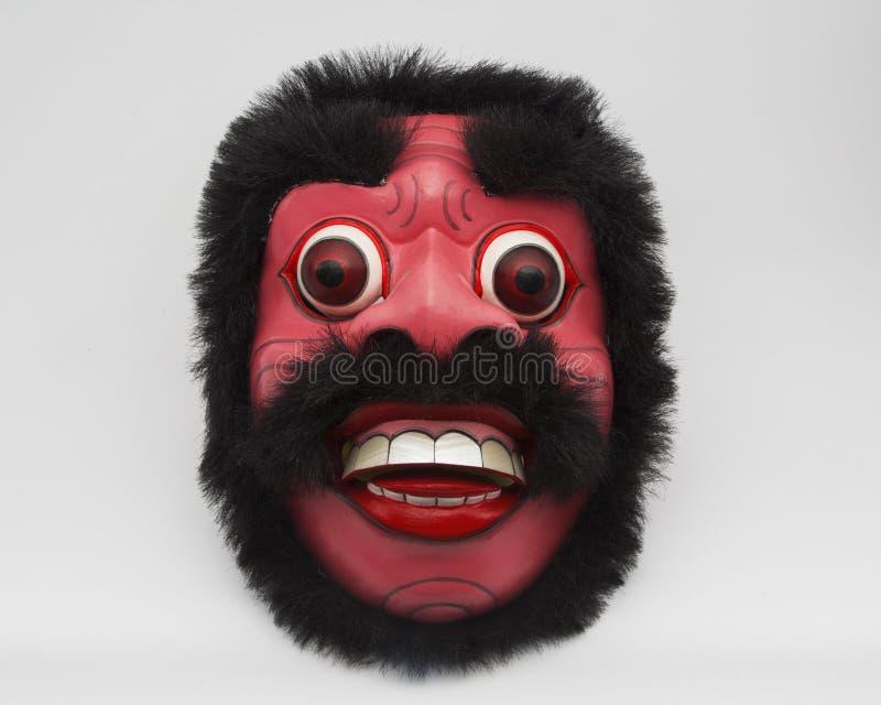 Het Balinese traditionele ambacht van het rood gezichtsmasker royalty-vrije stock foto's