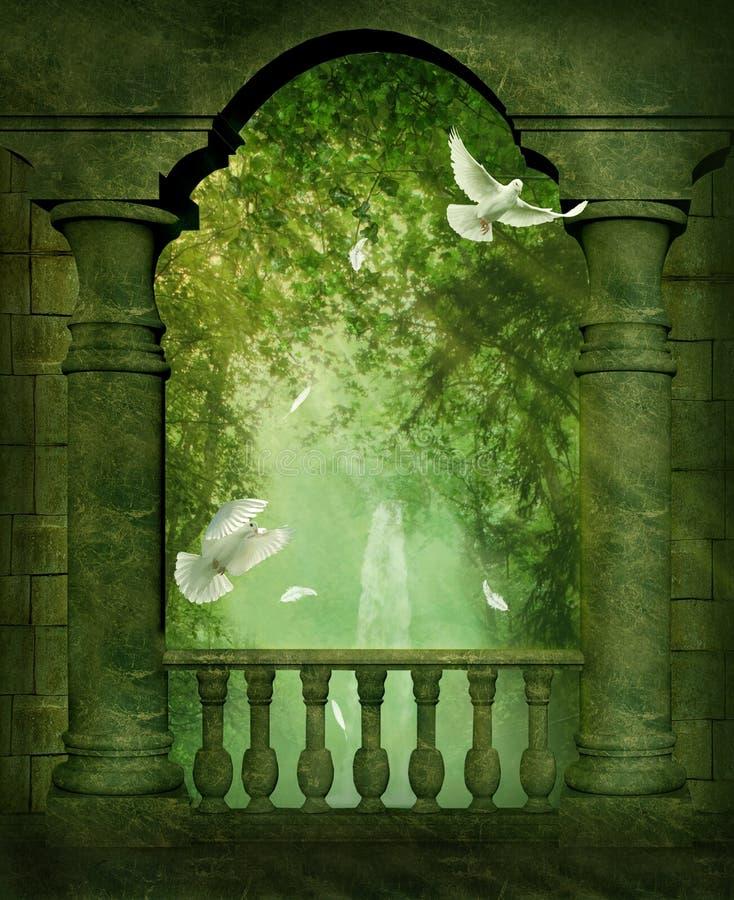 Het balkon royalty-vrije illustratie