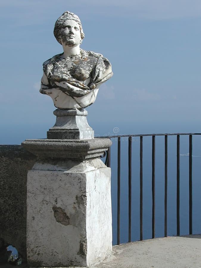 Het balkon van Cimbrone van de villa, Amalfi Kust, Italië royalty-vrije stock foto