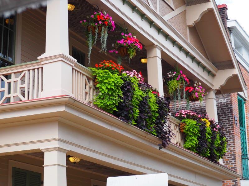 Het Balkon van de zomernew orleans stock afbeelding